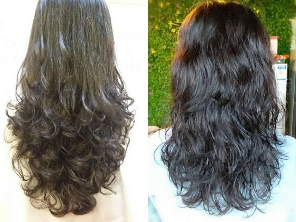 懒人卷怎么烫好看 只烫发尾的长发微卷发型图片