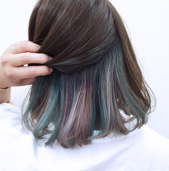 隐藏式染发颜色搭配 隐形染发图片欣赏