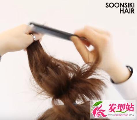 短发lob头扎发视频教程 头发半长不短怎么扎丸子头?