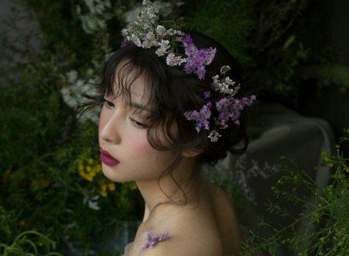 气质森系新娘刘海发型