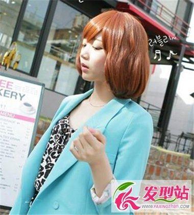 中短发女生流行卷发发型 可爱韩式蛋卷头最百搭