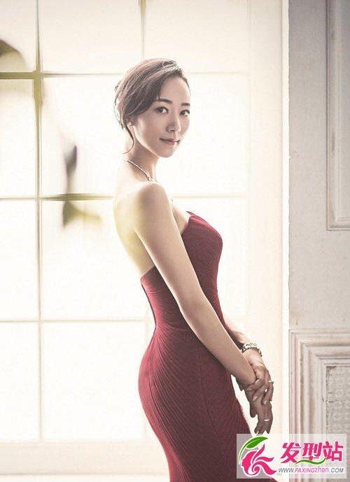 女明星韩雪新娘写真发型图片