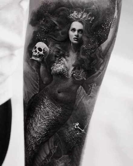 暗黑系的恐怖纹身图案图片
