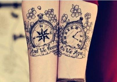 幸福情侣超有爱的手腕图腾纹身图案图片